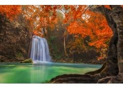 秋季瀑布摄影
