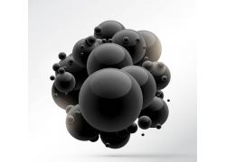 黑色球体背景