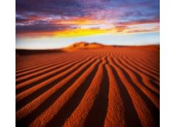 红色沙漠风光
