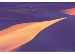 广阔的沙漠风光