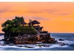 海中的小岛风景