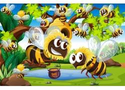 卡通蜜蜂漫画
