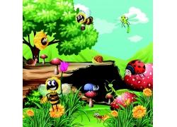 各种昆虫漫画
