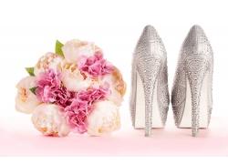 鲜花与高跟鞋摄影