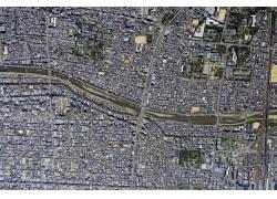 卫星拍摄的城市地图