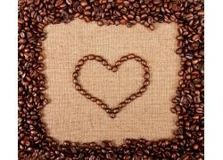 咖啡豆花边图案背景