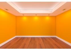 黄色墙壁透视效果