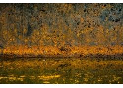 锈迹斑斑的金属背景