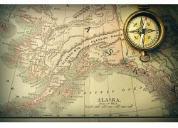 指南针和古代地图摄影
