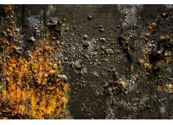 锈蚀的墙体表面摄影