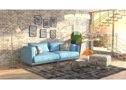 越层客厅沙发装修设计
