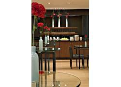 现代简约餐厅休息室效果图