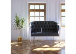 地板上的欧式沙发