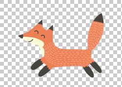 正在跑步的可爱狐狸