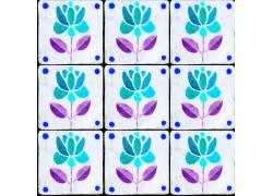 蓝色鲜花背景