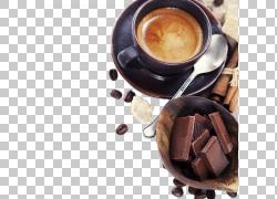 咖啡与巧克力背景