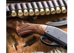 枪支和子弹特写
