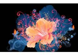 彩色鲜花花朵背景