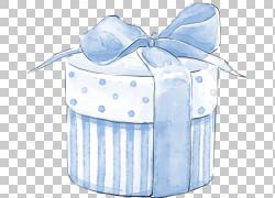 蓝色礼物礼盒设计图片