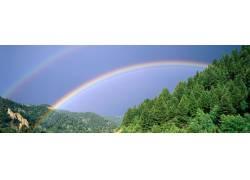 山林彩虹摄影