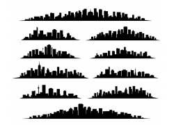 城市黑白剪影