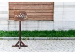 婚礼指示牌