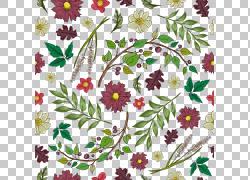 彩色花朵与树叶