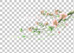 水彩桃花设计图片