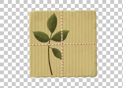 绿色叶子礼物盒素材图片