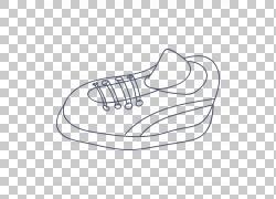 手绘跑步鞋子