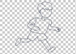 手绘跑步男孩