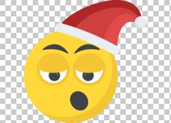 圣诞帽圆形卡通图片