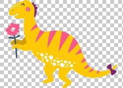 黄色卡通恐龙