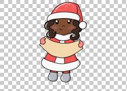 卡通圣诞女孩