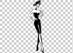 黑白时尚美女
