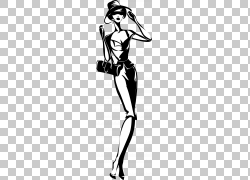 黑白时尚女郎