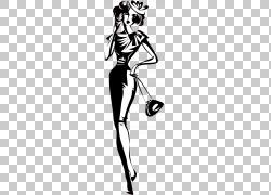 卡通时尚女郎
