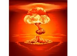 爆炸蘑菇云图案设计