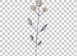 树枝树叶与花朵
