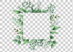 绿色树叶边框设计