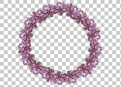 紫色鲜花花环