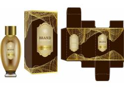 棕色黄金包装盒设计