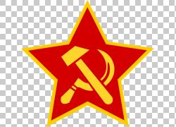 五角星镰刀锤头党徽图片