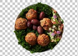 肉丸蔬菜沙拉美食图片