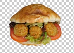 蔬菜炸丸子三明治图片