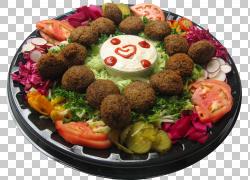 炸丸子蔬菜拼盘图片