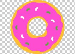 粉色手绘甜甜圈图片