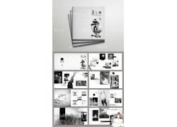 黑白复古文艺风宣传画册