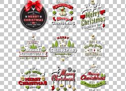 圣诞节标签设置PNG剪贴画其他,食品,标签,徽标,生日快乐图像,图片
