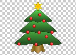 圣诞树,小圣诞节的PNG剪贴画装饰,圣诞节装饰,云杉,冷杉,礼品,假图片